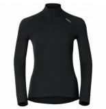 Odlo Ondershirt womens l/s turtle neck 1/2 zip warm black-l
