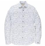 Cast Iron Csi205604 7003 long sleeve shirt print on poplin stretch white
