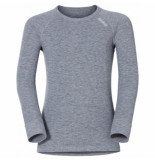 Odlo Ondershirt l/s crew neck warm kids grey melange-maat