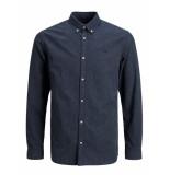 Jack & Jones 12175376 overhemd regular fit navy r jack and jones