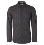 Noize Shirt, l/s, print, dots & waves navy