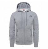 The North Face Vest men open gate fz hoodie light tnf medium grey heather-xs