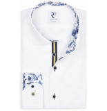 R2 Westbrook Heren overhemd print details dobby modern fit