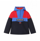 Napapijri Jas youth rainforest colour block blu marine-maat