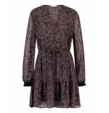 Freebird Anja mini dress long sleeve purple