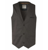 No Excess Gilet check jersey unlined moss