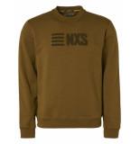 No Excess Sweater crewneck 3d towel embroider moss