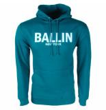 Ballin Est. 2013 heren trui capuchon sweat petrol