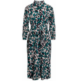 Sisters Point Eron shirt dress cream khaki green