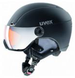 UVEX Skihelm hlmt 400 visor style black mat-58 -