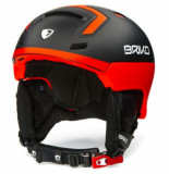 Briko Skihelm stromboli matt blk orange fluo-56 -