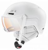UVEX Skihelm hlmt 700 visor white mat-57 -