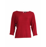 Surkana Sweater red baggy boatneck