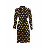 Surkana Midi jurk shirt dots