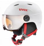 UVEX Skihelm junior visor pro white red mat-52 -