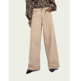 Maison Scotch 160451 wide leg twill pants in organic cotton