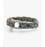 Pig & Hen P14-63204 armband gorgeous george | navy sand | silver