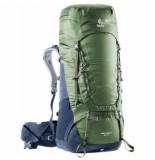 Deuter Backpack aircontact 65 + 10 khaki navy