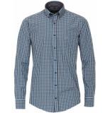 Casamoda Heren overhemd dobby geruit casual fit