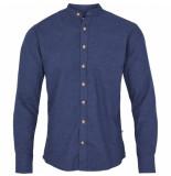 Kronstadt Dean henley overhemd blauw flanel