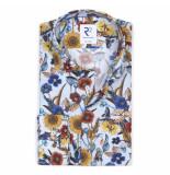 R2 Westbrook Overhemd widespread wilde kleuren print modern fit