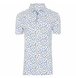 R2 Westbrook Heren polo auto print modern fit