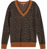 Maison Scotch V-neck knit with pattern