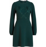 King Louie Polly dress woven crepe pine green