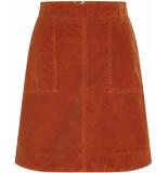 Fabienne Chapot Victoria solid baby cord skirt cognac