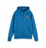 Scotch & Soda 158485 0704 clean felpa hoodie sweater met chest embroidery