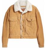Levi's New heritage cord trucker jacket iced coffie
