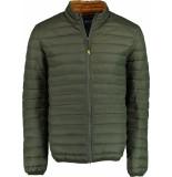 Bos Bright Blue Puff jacket 20301ja03bo/368 olive