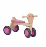 Van Dijk Toys Loopfiets beuken roze