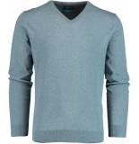 Bos Bright Blue Vince v-neck pullover flat kn 20305vi01bo/262 used blue