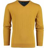 Bos Bright Blue Vince v-neck pullover flat kn 20305vi01bo/860 bronze