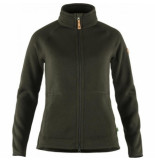 Fjällräven Vest fjällräven women Övik fleece zip sweater deep forest-s