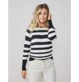 Summum 7s5519-7778 striped sweater viscose blend knit