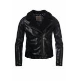 Looxs Revolution Biker jasje zwart voor meisjes in de kleur