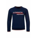 Common Heroes Blauwe sweater voor jongens in de kleur