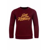 Common Heroes Bordeaux sweater voor jongens in de kleur