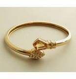 Christian 18 karaat gouden citrien en diamant armband