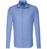 Seidensticker Heren overhemd fil-à-fil kent tailored fit