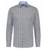 Scotland Blue Dress hemd 20307wa50sb