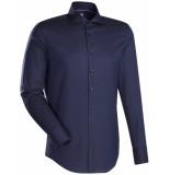 Jacques Britt Overhemd donker poplin kent boord custom fit