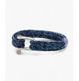 Pig & Hen P14-fw20-163623 armband gorgeous george navy - violet blue | silver