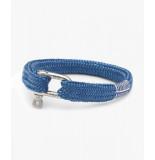 Pig & Hen P07-fw20-162000 armband sharp simon violet blue | silver