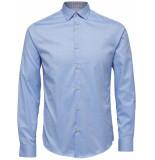 Selected Homme Heren overhemd oxford licht ruiten contrast slim fit