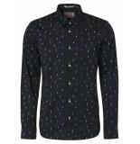 Noize Shirt, l/s, print, fishing black