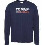 Tommy Hilfiger Dm0dm09487 corp logo lonsleeve tee c87 twillight navy jeans