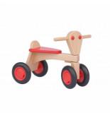 Van Dijk Toys Loopfiets beuken rood